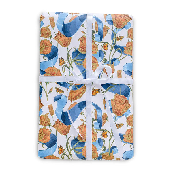Poppies & Ribbon Gift Wrap