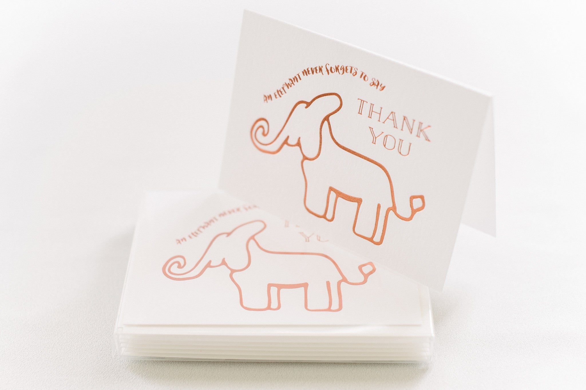 Elephant Never Forgets Thank You - Boxed Set of Six