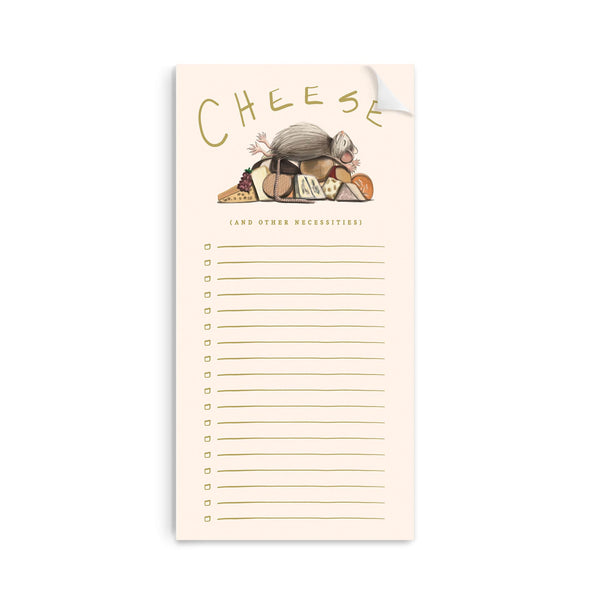 Cheese + Necessities Notepad