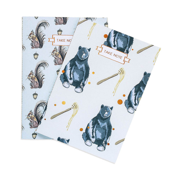 Forest Creatures Notebook Duo