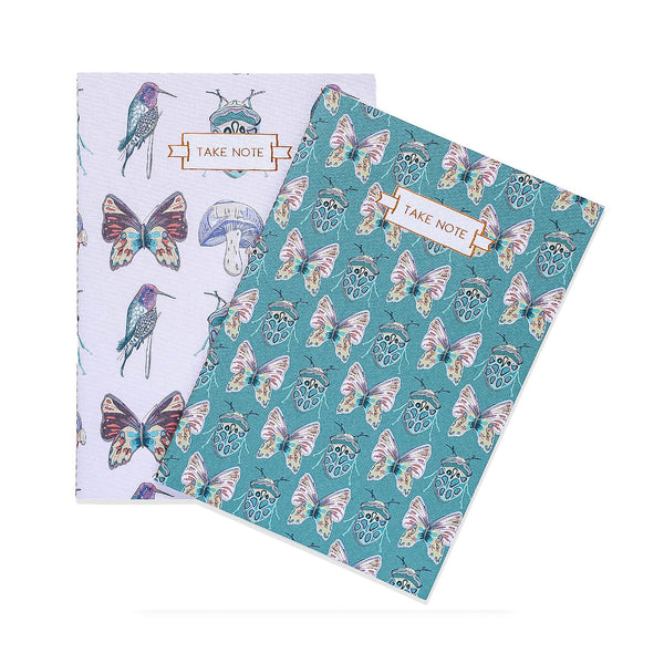 Beetles and Butterflies Notebook Duo