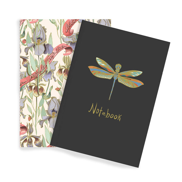 Dragonfly & Iris Notebook Duo