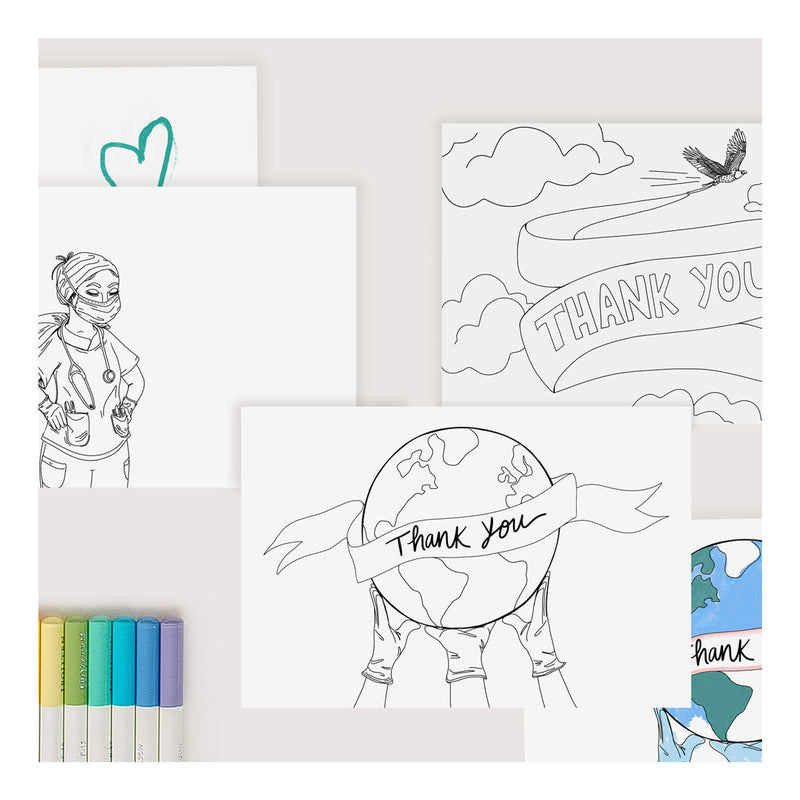 Color-It-In Healthcare Heroes - Set of 6 Postcards