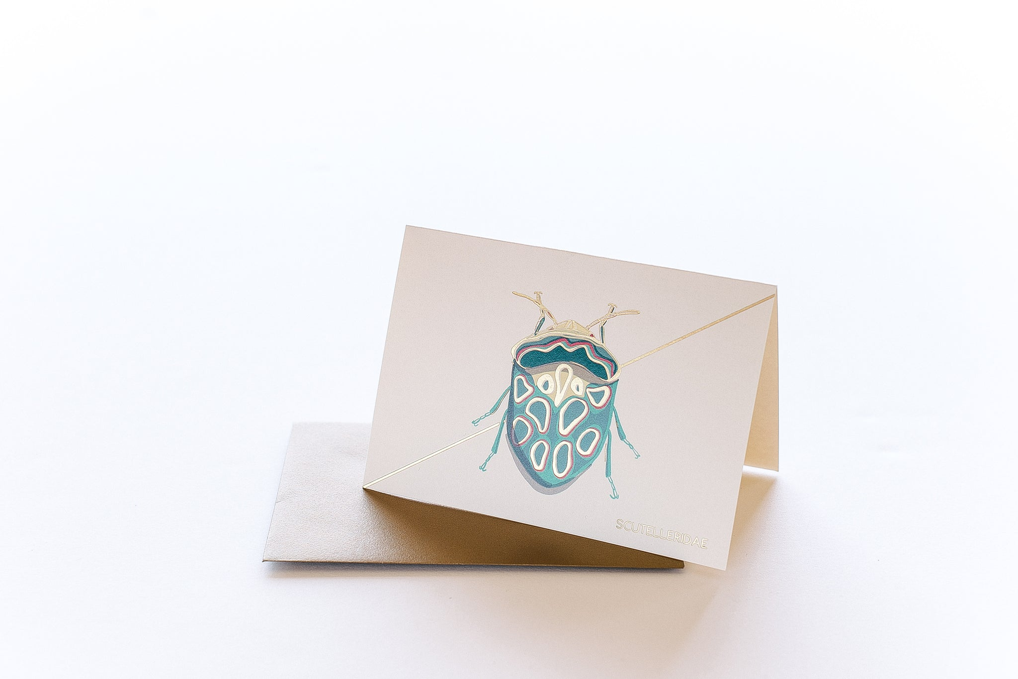 Teal Beetle Stationery