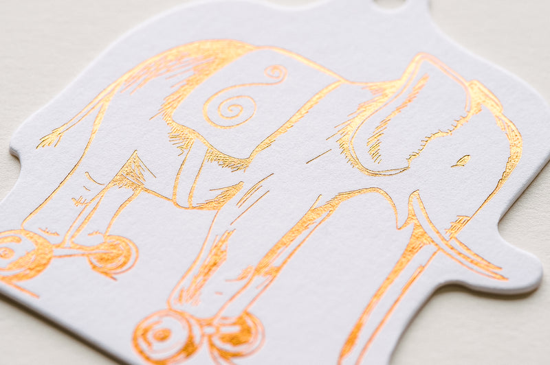 Toy Elephant Die Cut Gift Tag Set