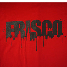 Load image into Gallery viewer, Mens SFCA Frisco Drips T-Shirt, Red with Black