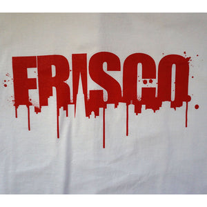 Mens SFCA Frisco Drips T-Shirt, White with Red