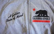 Load image into Gallery viewer, True Womens Golden State Zip Hoodie Heather Grey