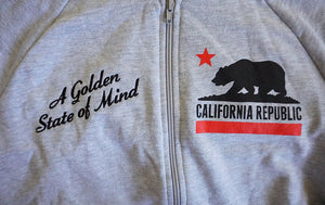 True Womens Golden State Zip Hoodie Heather Grey
