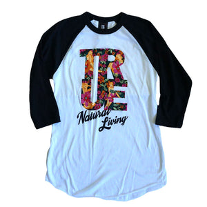Womens True Natural Living Raglan T-Shirt White/Black