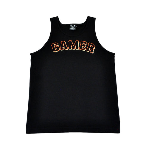 Thrill of Victory Mens Gamer Tank Top Black
