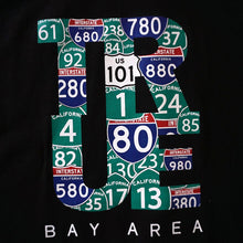 Load image into Gallery viewer, Mens True Bay Area T-Shirt Black