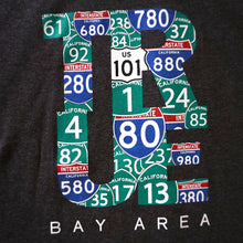 Load image into Gallery viewer, Mens True Bay Area T-Shirt Charcoal Heather