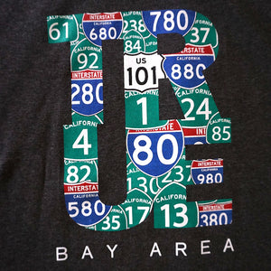Mens True Bay Area T-Shirt Charcoal Heather