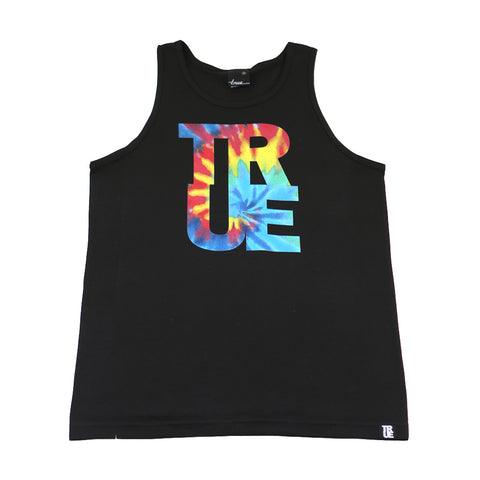 True Mens Hippie Dip Tank Top Black