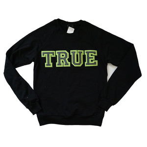 Womens True Vapid Crewneck Sweatshirt Black