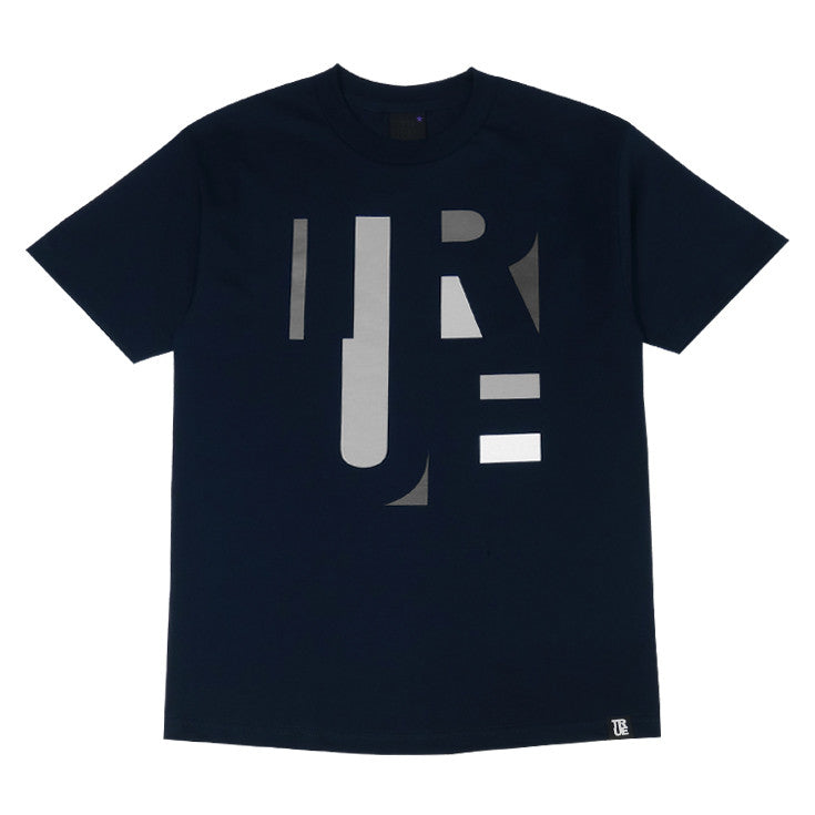 Mens True Abstract T-Shirt Navy - Shop True Clothing