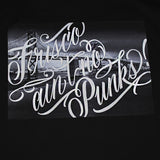True x George Anzaldo Mens No Punks Tee Black