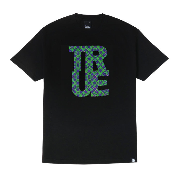 Mens True Argyle THC T-Shirt Black