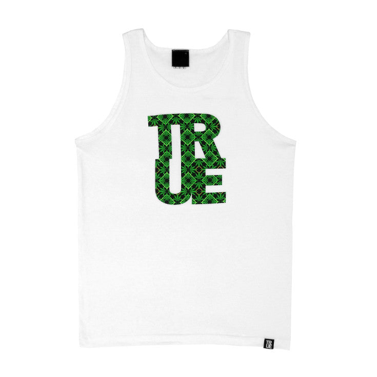 Mens True Argyle THC Tank Top White - Shop True Clothing