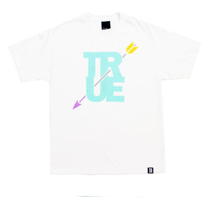 True Mens Arrow T-Shirt White Mint - Shop True Clothing
