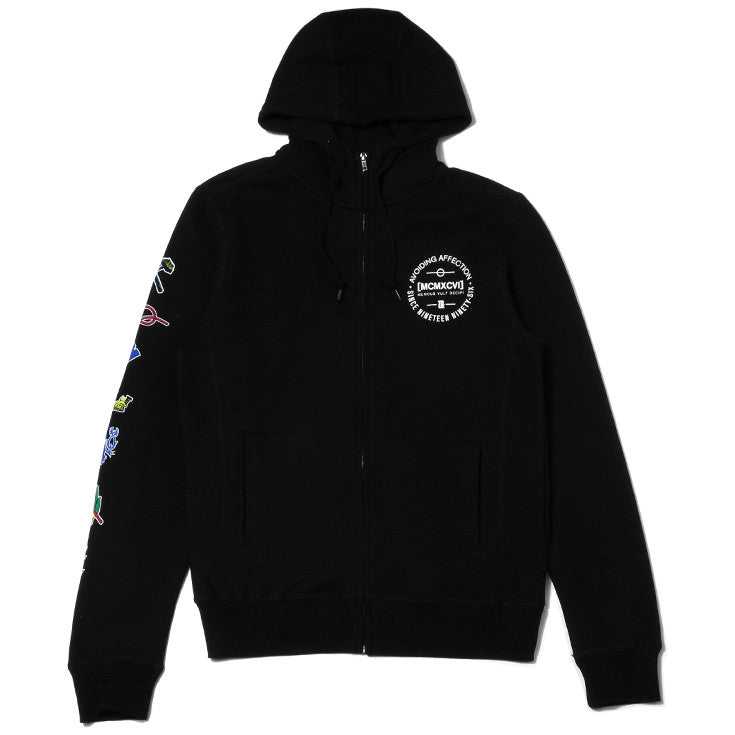 Mens True Avoiding Zip Hoodie Black