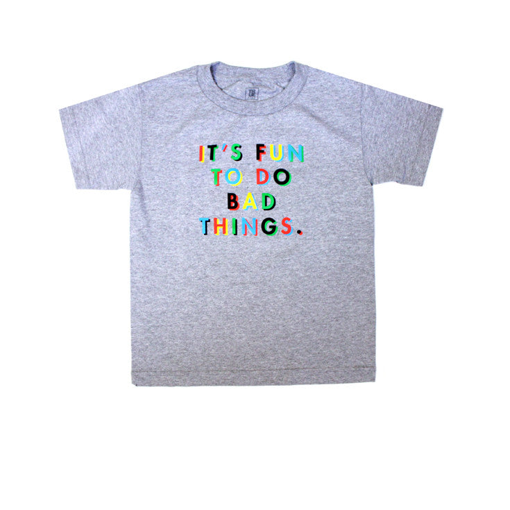 Kids True Bad Things T-Shirt Heather