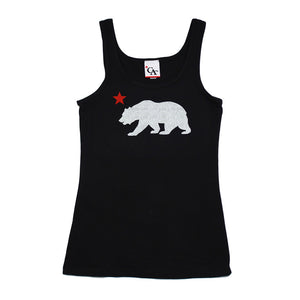 Womens Cali Bear Tank Top Black - Shop True Clothing