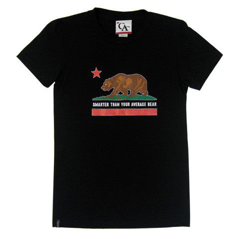 Womens Cali Bear T-Shirt Black