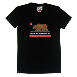 Womens Cali Bear T-Shirt Black - Shop True Clothing