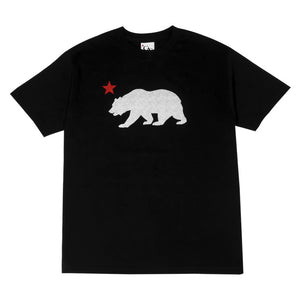 Mens Cali Bear Star T-Shirt Black - Shop True Clothing