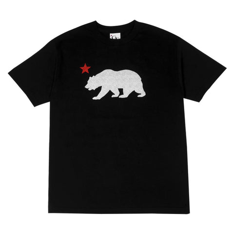 Mens Cali Bear Star T-Shirt Black