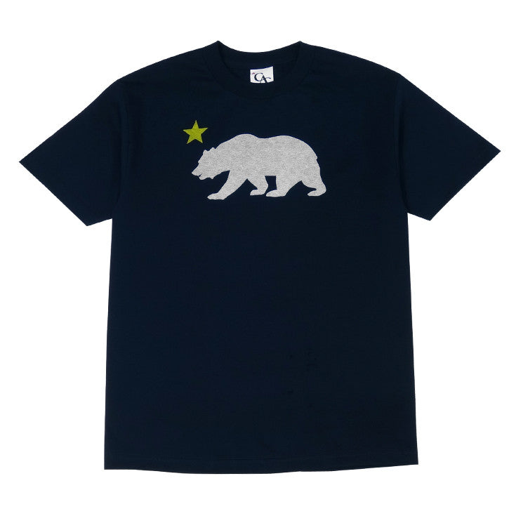 Mens Cali Bear Star T-Shirt Navy - Shop True Clothing