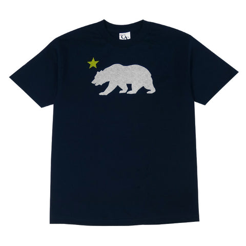 Mens Cali Bear Star T-Shirt Navy