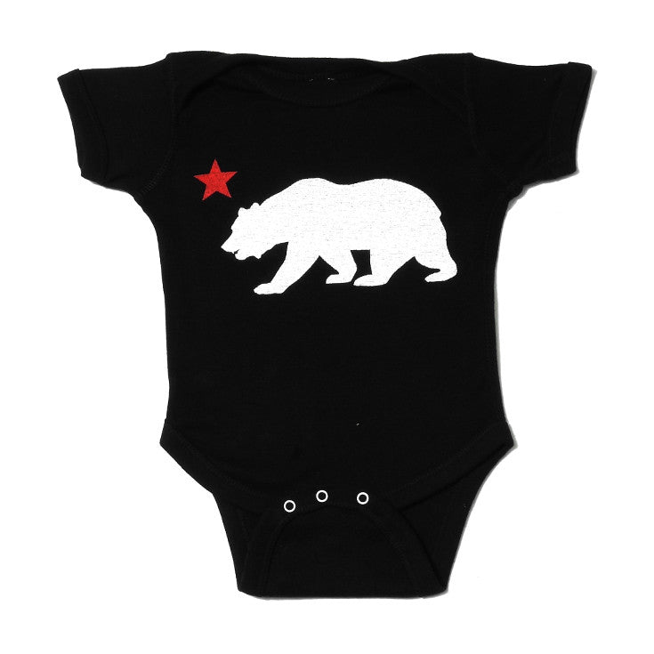 Kids True Bear Star One Piece Black