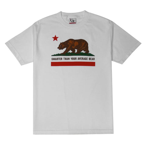 Mens Cali Bear T-Shirt White
