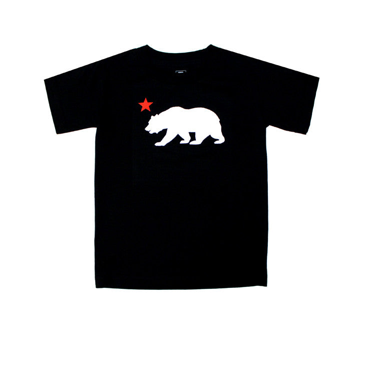 Kids Cali Bear Star T-Shirt Black - Shop True Clothing