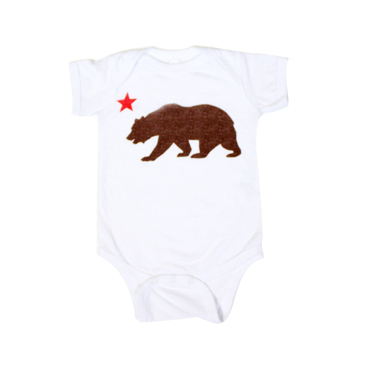 Kids True Bear Star One Piece White - Shop True Clothing