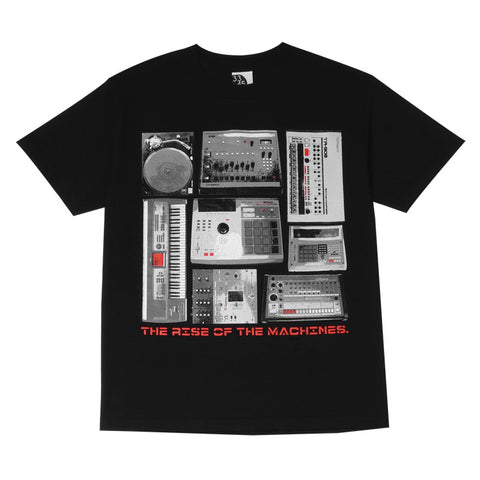 Mens Ongaku Beat Machines T-Shirt Black