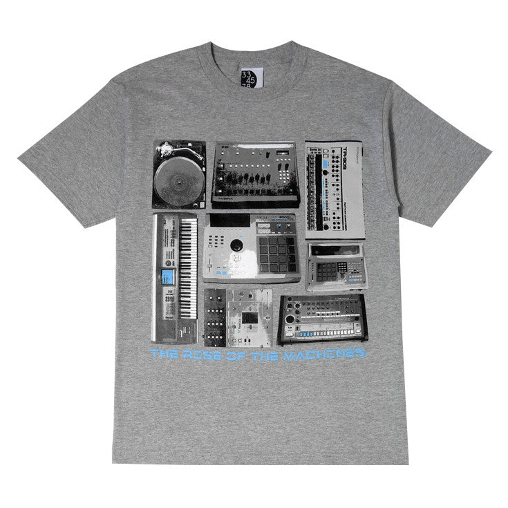 Mens Ongaku Beat Machines T-Shirt Heather Grey - Shop True Clothing