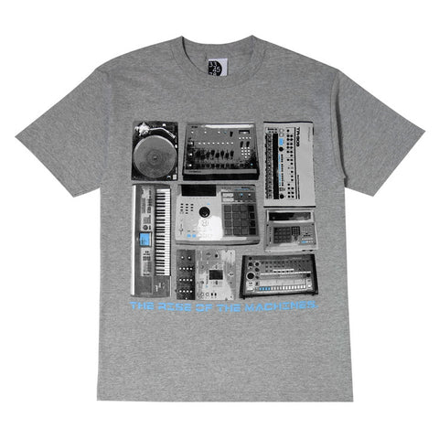 Mens Ongaku Beat Machines T-Shirt Heather Grey