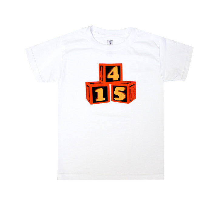 Kids True 415 Blocks T-Shirt White - Shop True Clothing