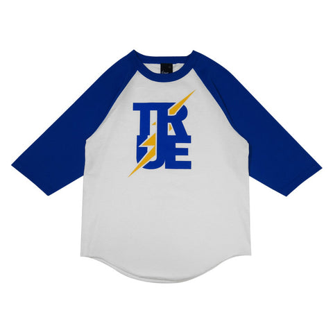 Mens True Bolt Raglan T-Shirt White/Royal