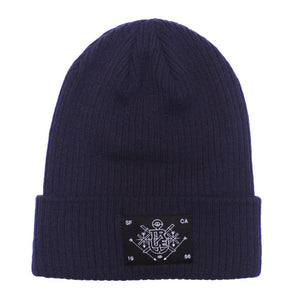 True Burning Bridges Beanie Navy - Shop True Clothing