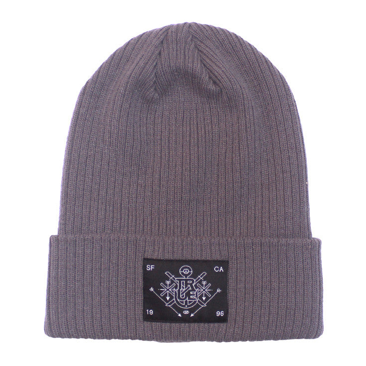 True Burning Bridges Beanie Grey - Shop True Clothing