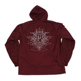 True Mens Burning Bridges Hooded Coaches Jacket Burgundy