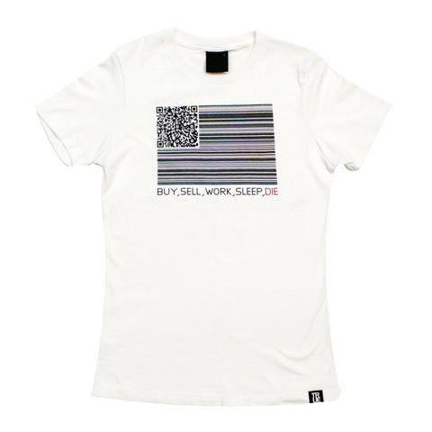 True Womens Buy Sell Die T-Shirt White
