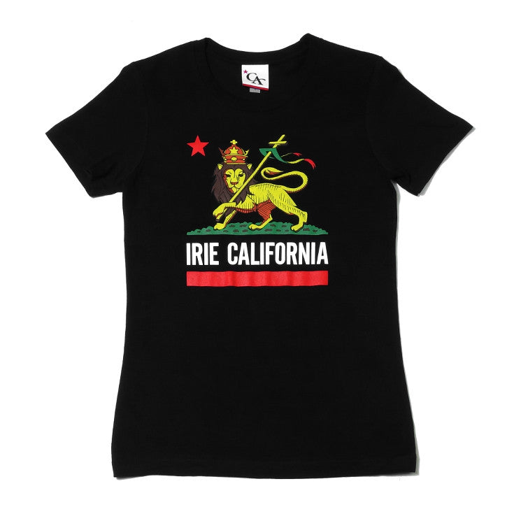 Womens Cali Lion T-Shirt Black
