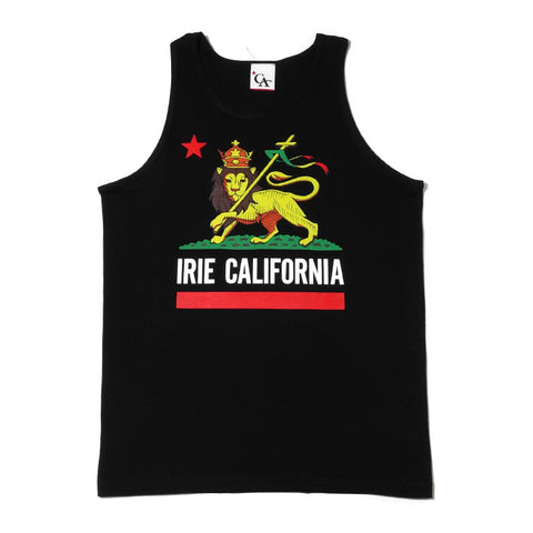 Mens Cali Lion Tank Top Black