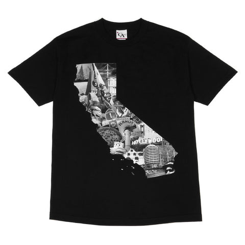 Mens Cali Photo T-Shirt Black